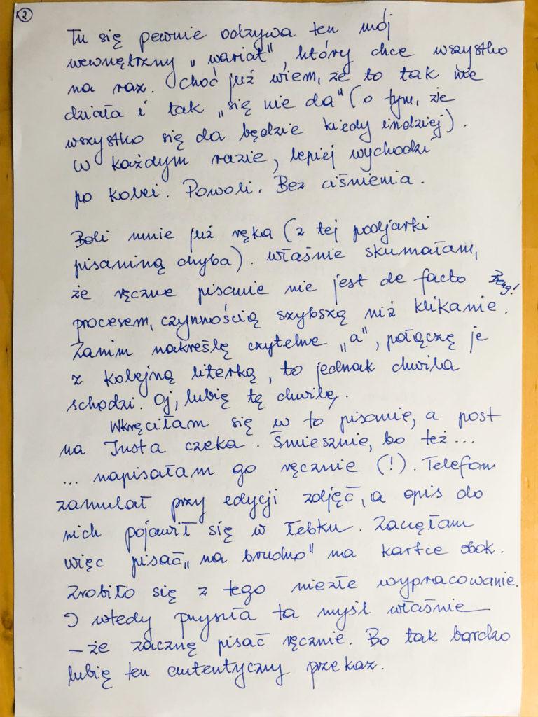 To jest mój najprawdziwszy pisany pamiętnik. - lidiapiechota.com